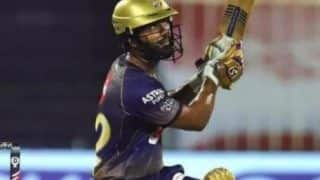 Srh vs kkr rahul tripathi reprimanded for breaching ipl code of conduct 4177515