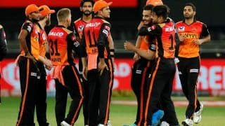 IPL 2020 Report: Priyam Garg, Bowlers Shine in Sunrisers Hyderabad's 7-Run Win, MS Dhoni Fails to Finish Match For Chennai Super Kings Again