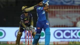 IPL 2020, DC vs KKR Match Report: Shreyas Iyer, Anrich Nortje Shine As Delhi Capitals Beat Kolkata Knight Riders By 18 Runs to Claim Top Spot in Points Table