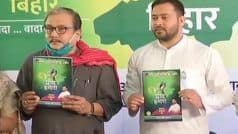 Rs 1,500 Unemployment Allowance, 10 Lakh Jobs: Tejashwi Yadav Releases RJD's Manifesto For Bihar Polls