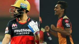 Ipl 2020 sandeep sharma takes virat kohlis wicket most number of time equals zaheer khans record against ms dhoni 4193127