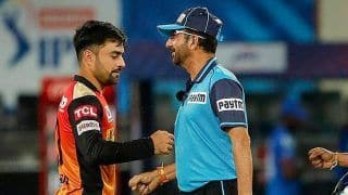 IPL 2020: Umpire Anil Chaudhary Helped SRH Not Go For DRS? His Gesture Sparks Controversy