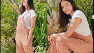 Anushka Sharma Looks Pretty in Peach as She Basks in the Sun, Don't Miss Her Cute Baby Bump
