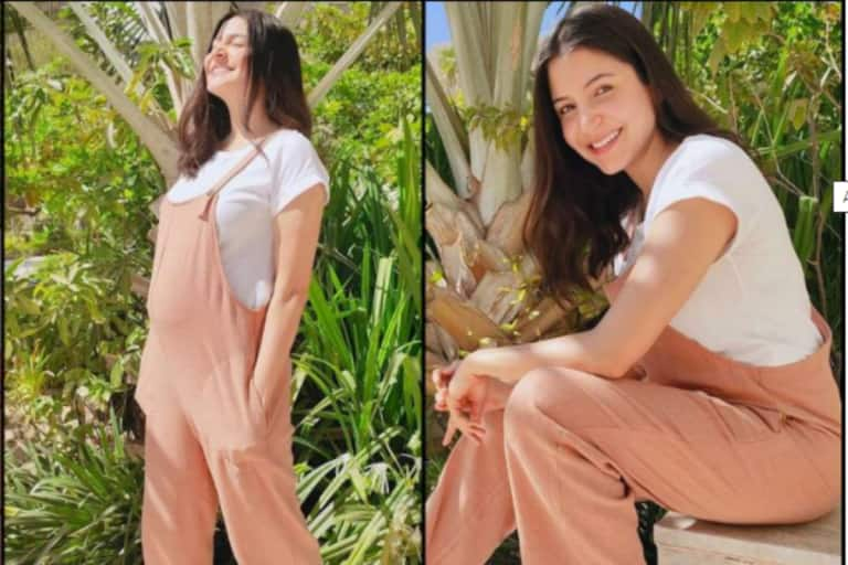 Anushka Sharma Looks Pretty in Peach as She Basks in the Sun, Don't Miss Her Cute Baby Bump