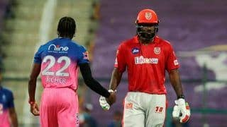 IPL 2020: Chris Gayle Fined 10 Percent Match Fee For Flinging Bat After Getting Out on 99