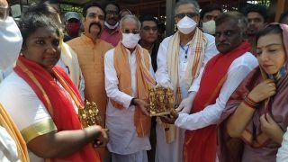 4 Feet Tall 'Grand Bell' Weighing 613 Kg For Ram Mandir Arrives in Ayodhya From Rameswaram
