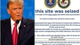 US Elections 2020: Donald Trump's Campaign Website Briefly Defaced As Hackers Had 'Enough of Fake News'