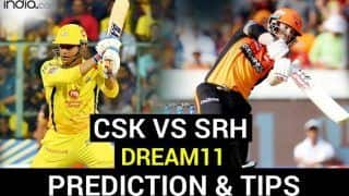 CSK vs SRH Dream11 Team Tips, IPL 2020 Captain And Vice-Captain