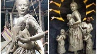 Durga Puja 2020: Goddess Durga Depicted as 'Migrant Mother With Her Children' at Kolkata's Barisha Club