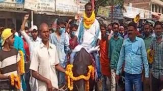 Bihar Candidate Arrives on a Buffalo to File Nomination As He Doesn't Have a Car | Watch