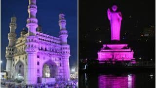 Hyderabad Kicks Off Breast Cancer Awareness Month, Illuminates Prominent Buildings Including Charminar in Pink
