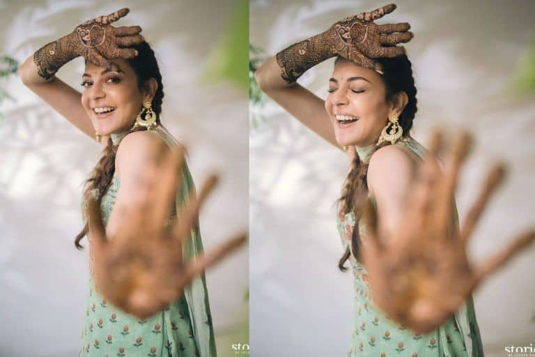 Kajal Aggarwal's Sharara For Mehendi Ceremony is Worth Rs 24,500; Another Pretty Number by Anita Dongre