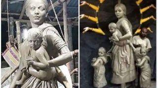 Durga Pooja 2020: देवी दुर्गा में दिखी प्रवासी मजदूरों की पीड़ा, देश भर में हुई इस मूर्ती की तारीफ, जिसने बनाई उसे खबर तक नहीं