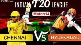 LIVE Chennai Super Kings and Sunrisers Hyderabad IPL 2020
