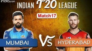 IPL 2020 Match 17 Live Cricket Score, MI vs SRH, Sharjah