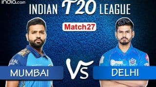 LIVE Mumbai Indians vs Delhi Capitals Match 27 Live Cricket Score And Updates: Battle of The Top Two at Abu Dhabi