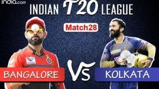 LIVE Royal Challengers Bangalore vs Kolkata Knight Riders Match 28 Live Cricket Score And Updates: Both Teams Hope to Continue Winning Momentum at Sharjah