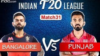 LIVE Royal Challengers Bangalore vs Kings XI Punjab Match 31 Live Cricket Score And Updates: Kohli-led Bangalore Look to Continue Winning Momentum in Sharjah