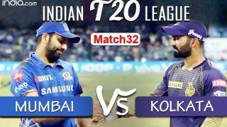 LIVE Mumbai Indians vs Kolkata Knight Riders Match 32 Live Cricket Score And Updates: With Eoin Morgan as Captain, Kolkata Look to Bounce Back in Abu Dhabi