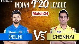 LIVE Delhi Capitals vs Chennai Super Kings Match 34 Live Cricket Score And Updates: Injury-Hit DC Look to Continue Good Run in Sharjah