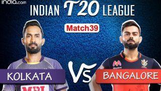 LIVE | Kolkata vs Bangalore, IPL 2020, Match 39, Abu Dhabi