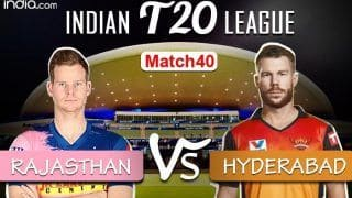 IPL 2020 Live Cricket Score RR vs SRH, Today's Match 40 Live Updates Dubai: Both Sides Look to Get Campaign on Track