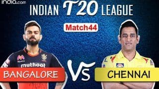 LIVE Royal Challengers Bangalore vs Chennai Super Kings Match 44 Live Cricket Score And Updates: Will MS Dhoni-led Side's Campaign End in Dubai?