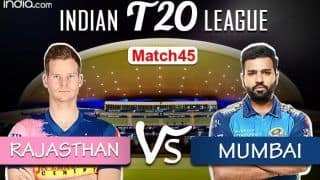 IPL 2020 LIVE Score RR vs MI Match 45 Today's Match Live Cricket Updates Online: Rajasthan Royals Face Mighty Mumbai Indians in Must-win Clash