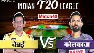 LIVE IPL Score CSK vs KKR : कोलकाता का खेल बिगाड़ने उतरेगी चेन्नई, 7 बजे होगा टॉस