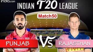 LIVE Kings XI Punjab vs Rajasthan Royals Match 50 Live Cricket Score And Updates, Abu Dhabi: Smith & Co Look to Stop KXIP's Winning Streak