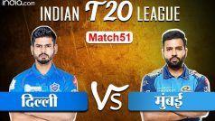 Live IPL 2020 Score Delhi vs Mumbai: दिल्ली ने 10 ओवर में 49 रन पर 2 विकेट गंवाए