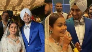 Neha Kakkar-Rohanpreet Singh's First Look From Chandigarh Reception Out: Newly Married Dance, Sing For Each Other