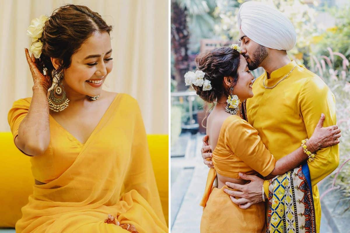 New Pictures From Neha Kakkar- Rohanpreet Singh's Haldi Ceremony Are Here | India.com