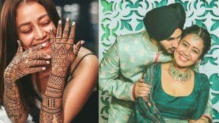 Neha Kakkar-Rohanpreet Singh Wedding Functions Pics: Bride And Groom Look Dreamy in Green at Mehendi Ceremony