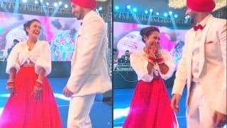 Neha Kakkar-Rohanpreet Singh Wedding Sangeet Ring Ceremony Pics Out: Chooda-Clad Bride Dances on Stage