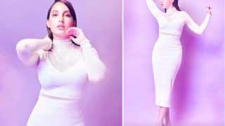Nora Fatehi Wears Sheer Top And White Skirt Worth Rs 1.16 Lakh, Do You Think It's Glamorous?