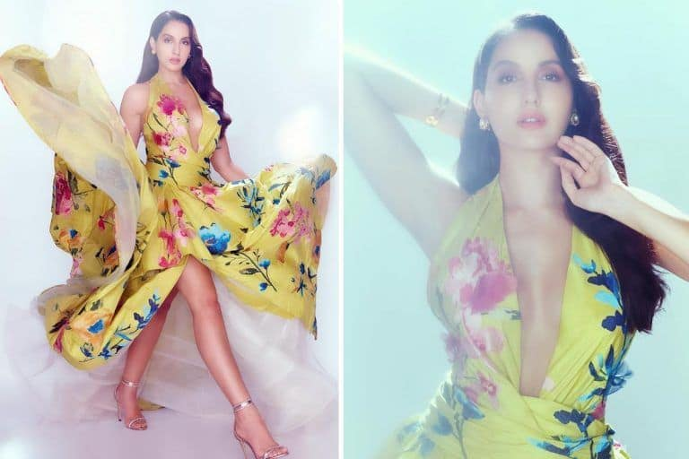 Nora Fatehi's Sexy Gown Costs Around Rs 3 Lakh And You Can't Get Your Eyes Off Her in That Marchesa Number