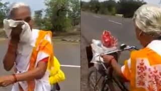 Watch: 68-Year-Old Maharashtra Woman Embarks on a 2,200 km Bicycle Journey to Reach Vaishno Devi