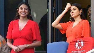 Anushka Sharma Wears a Striking Maternity Dress Worth Rs 2.5k, Cheers For Husband Virat Kohli From The Stands, See PICS