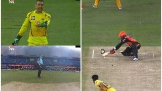 Wide or not wide umpire changes mind on wide call after ms dhoni objection twitter reactions 4172678