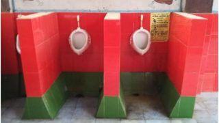 सीएम योगी के गोरखपुर में रेलवे के शौचालय में लगाए हरे-लाल टाइल्स, सपा कार्यकर्ताओं ने कालिख पोती, विरोध प्रदर्शन