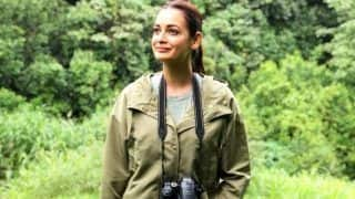 Dia Mirza's Olive Green Jacket And a Grey T-Shirt From Her Environmentally Sound Wardrobe is Cool Enough to Don if Planning a Quick Getaway