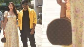 Nora Fatehi's Tiny Bag Costs Rs 3 Lakh; Actor Poses With Guru Randhawa For Nach Meri Rani Promotions