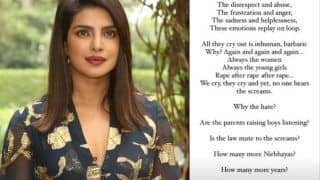 Priyanka Chopra Reacts to The Barbaric Hathras Gang Rape Incident, Writes an Emotional Note
