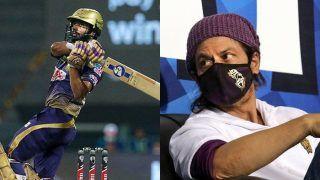 IPL 2020: 'Rahul, Naam to Suna Hoga!', Shah Rukh Khan Shouts His Iconic Dialogue As Rahul Tripathi Collect his Man of The Match Award