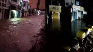 Hyderabad Flood Video: हैदराबाद में आफत की बारिश, सड़कों पर आया सैलाब, नदी में तब्दील हुईं शहर की गलियां