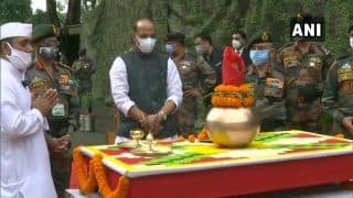 Rajnath Singh Performs 'Shastra Puja' in Darjeeling, Pays Tribute to Soldiers at China Border