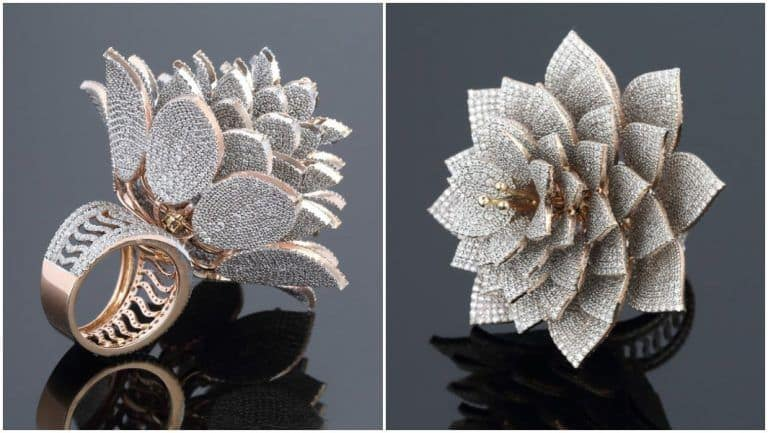 Hyderabad Jeweller Sets Guinness World Record For Making a Ring With 7,801 Diamonds