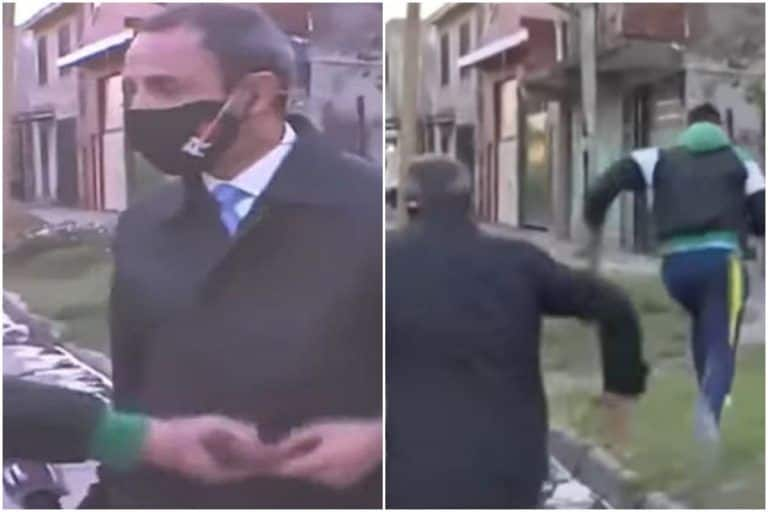 Thief Snatches Reporter's Phone While He Was Preparing For Live Broadcast | Watch