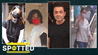 Spotted! Sunny Leone, Kartik Aaryan, Bobby Deol, Rakhi Sawant Papped in Mumbai- Video